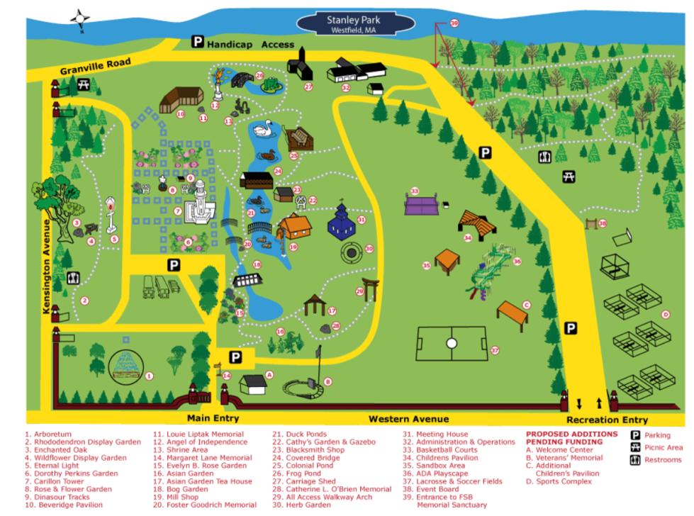 Mapa Stanley Park